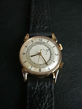 Jaeger LeCoultre Memovox 814 Manual Wind 10K Gold Filled Vintage Watch 1950's