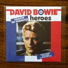 "David Bowie - Heroes - French Limited Edition 7"" Blue Vinyl Single - New Sealed"