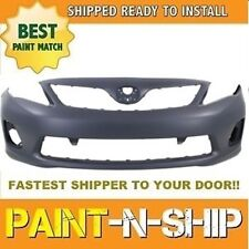 Fits; 2011 2012 2013 Toyota Corolla Front Bumper Painted to Match (TO1000372)