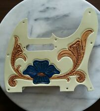 Tooled Leather Pickguard for Fender Telecaster