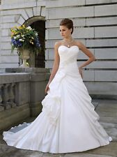 White  Satin Wedding Dress Size 14 UK Seller