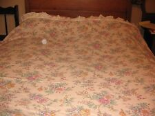 VINTAGE FLORAL LADY PEPPERELL RUFFLES EYELET TWIN 2 PIECE SHEET SET SHABBY CHIC
