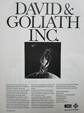 4/1972 PUB AEG TELEFUNKEN DAVID GOLIATH SPACE ELECTRONICS SATELLITE ORIGINAL AD