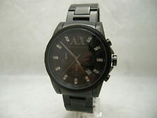 Authentic Armani Exchange AX2093 Chronograph Ion Plated Black Men's Watch