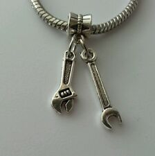 Wrench Contractor Construction Mechanic Tools Bead For European Charm Bracelet