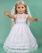 GOOD! Wedding Handmade lovely dress clothes for 18 inch American Girl Doll b9
