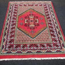 Orient Teppich Berber 182 x 123 cm Marokko Rot Handgeknüpft Carpet Rug Tappeto