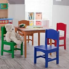 Kids Study Table And Chair Set Wood Children Wooden Bedroom Play Room Furniture