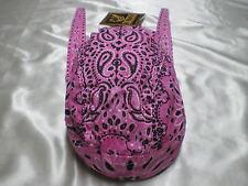 Pink Paisley Doo Rag Chef Hat Do Rag Bandanna Biker Capsmith Skullcap Durag