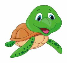 Turtle Cartoon Cute Green Sticker Decal Graphic Vinyl Label V1