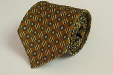 BROOKS BROTHERS MAKERS Silk Tie Yellow with Geometric Square Patterns
