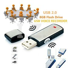 8 Gb Digital Voz Audio Recorder Dictafono Memoria Usb De Aleación