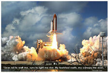 Shuttle Blastoff Laminated Educational Space Chart Poster 24x36