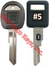 NEW GM Single Sided VATS Ignition Key #5 + Doors/Trunk OEM Key  - MADE IN USA