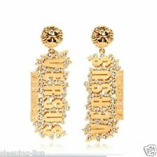 Luxury Punk Gold Rhinestone Earrings Hip-hop Lion Head Letters Stud Earrings hot