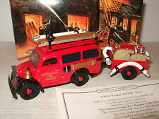 Neuf rare matchbox YFE18 1950 ford E83W van & remorque, emergency fire services