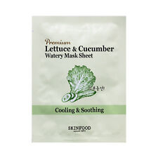 [SKINFOOD] Premium Lettuce & Cucumber Watery Mask Sheet Samples - 2pcs