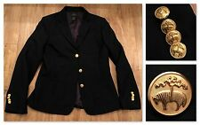 Brooks Brothers Cashmere Wool Blazer Womens Gold Buttons Size 6 FREE SHIPPING!