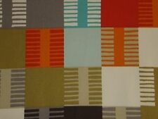 "HARLEQUIN SCION CURTAIN FABRIC DESIGN ""Navajo"" 0.80 METRE TOMATO AND MULTI"
