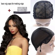 New  Mesh full Wig Cap Stretchable Lace Wig Caps For Making Wigs with Comb Hook.