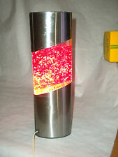 Vintage Lava Lamp Glitter Lamp 1970/80s French brushed steel type