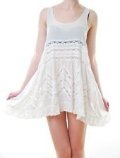 Free People Women`s Voile and Lace Trapeze Slip White Size XS BCF62
