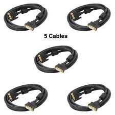 Lot 5 of 3Ft. DVI-D Dual Link 24+1 Digital Video Male to Female Extension Cable