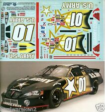 NASCAR DECAL # 01 ARMY 2003 PONTIAC GRAND PRIX JERRY NADEAU - SLIXX - 1/24 Scale