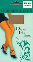 15 Denier Tights Natural Colour- One Size
