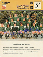 South African RB EDITIONS RECONTRE S.A 1978 RUGBY CARD