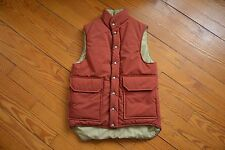 VINTAGE LL BEAN mens insulated ducktail vest