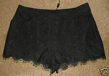 NEXT SEXY BLACK LACE EYELASH HOT PANTS PARTY EVENING SHORTS  SZ UK 10 NEW