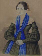 Signiert Nußer - Portrait einer Biedermeier Dame