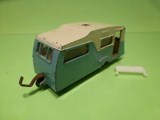 DINKY TOYS 188 FOUR BERTH CARAVAN - BLUE 1:43? - GOOD CONDITION