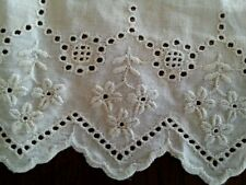 """12"""" Antique Whitework Lace Remnant Trim Edwardian Broderie Anglaise"""