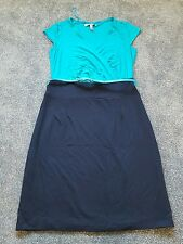 Pepperberry Ladies Gorgeous color block belted dress. Size 12 C-RC. Brand new.
