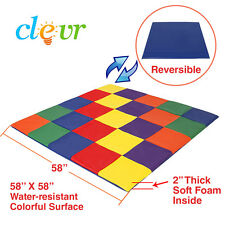 Clevr Kids Soft Cushioned Patchwork Play Mat, Toddler Activity Play , Multicolor
