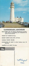 1969 FLAMBOROUGH LIGHTHOUSE YORKSHIRE UNUSED COLOUR POSTCARD