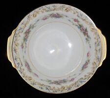 Noritake Somerset 5317, Gray Scrolls, Pink, Lugged Cereal Bowl