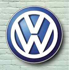 Volkswagen large 2FT garage mur signe photo vw logo vee dub atelier golf gti