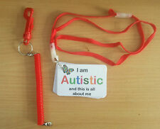 I AM AUTISTIC AND THIS IS ALL ABOUT keyring & lanyard - awarness for asd autism