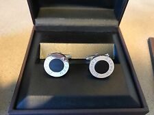 100% AUTHENTIC Alfred Dunhill Black Stainless Steel Cuff Links New In box