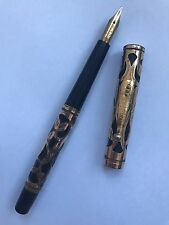 Vintage Waterman's Ideal Fountain Pen, No. 0512 (Ebonite & Gold Filigree)
