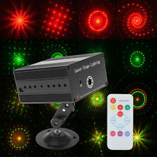 Mini Projector Red&Green DJ Disco Stage Light Xmas Party Laser Lighting Show