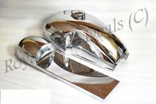 BENELLI MOJAVE CAFE RACER 260 360 PETROL FUEL GAS TANK HOOD SEAT PAIR CHROMED