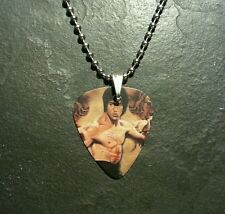 Bruce Lee Enter The Dragon Guitar Pick Dog Tag Style Necklace Pendant Charm Gift