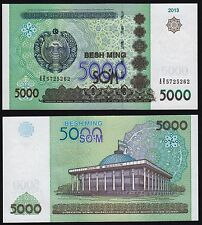 Uzbekistan - 5000 soms - UNC Currency Note - 2013 issue