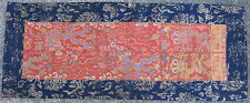 Antique Chinese silk brocade Ming Dynasty belt fragments 17thC Dragons Sutra