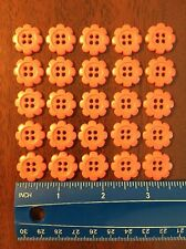 Lot Of 25 Pink Resin Flower Buttons