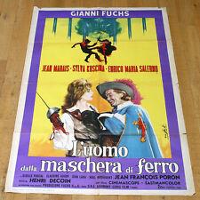 L'UOMO DALLA MASCHERA DI FERRO manifesto poster Jean Marais Enrico Maria Salerno
